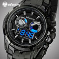 INFANTRY Watches Men Top Brand Luxury Analog-Digital LED Quartz-watch Full Steel Waterproof Army Sport Watches Relogio Masculino