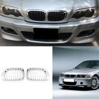 2Pcs Car Styling 98 01 Car Front Kidney Plating Grilles For BMW E46 318i 320i 323i