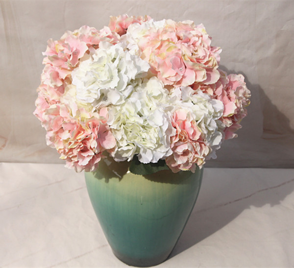 Handmade Wedding Flowers: 48*17 Cm Large Hydrangea Flower Branch Silk Artificial