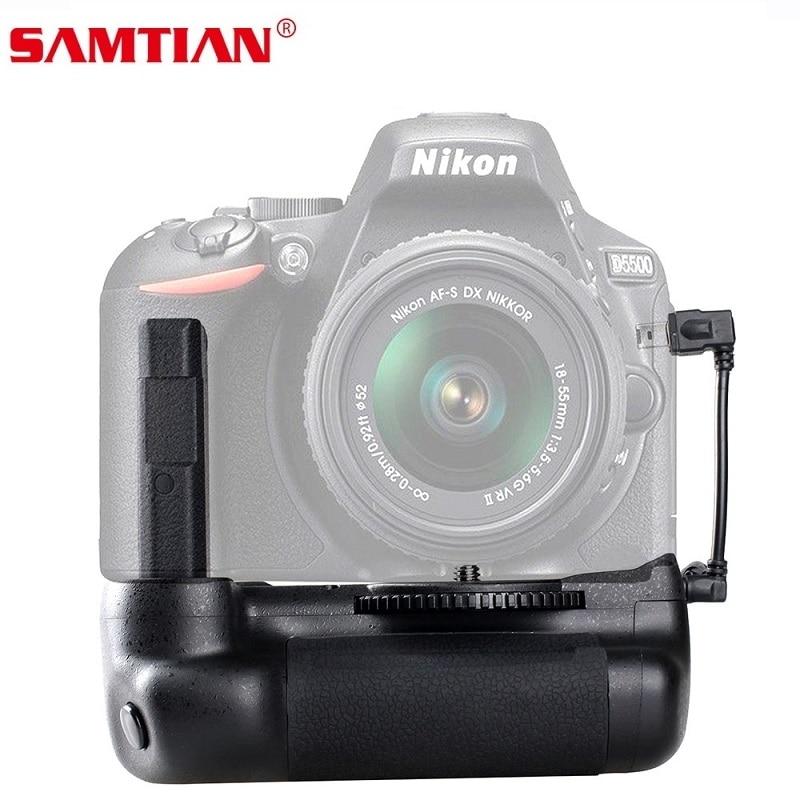 SAMTIAN Vertical Battery Grip holder for Nikon D5500 D5600 DSLR Camera Battery Handle Work With EN-EL14a Battery vertical battery grip for nikon d5500 dslr camera bg 2t