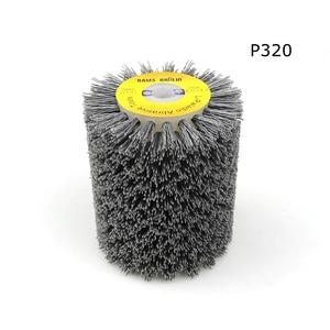 Image 5 - 1 adet 100*120*13mm aşındırıcı tel fırça tekerlek için 9741 tekerlek zımpara P80 P600 ahşap mobilya Metal parlatma taşlama