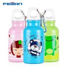Feijian mini sport water bottle for kid stainless steel bpa free Leak-Proof Seal protein shaker drinking milk school