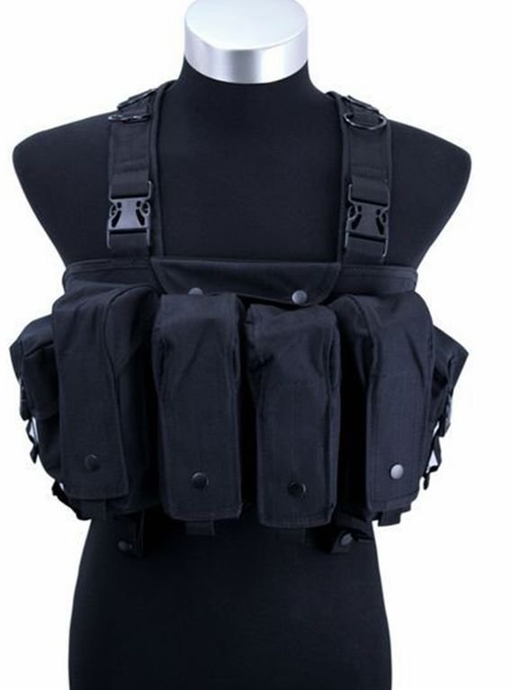 ФОТО Outdoor military fans protective equipment CS field game vest / AK belly pocket six bags of expansion training camouflage vest