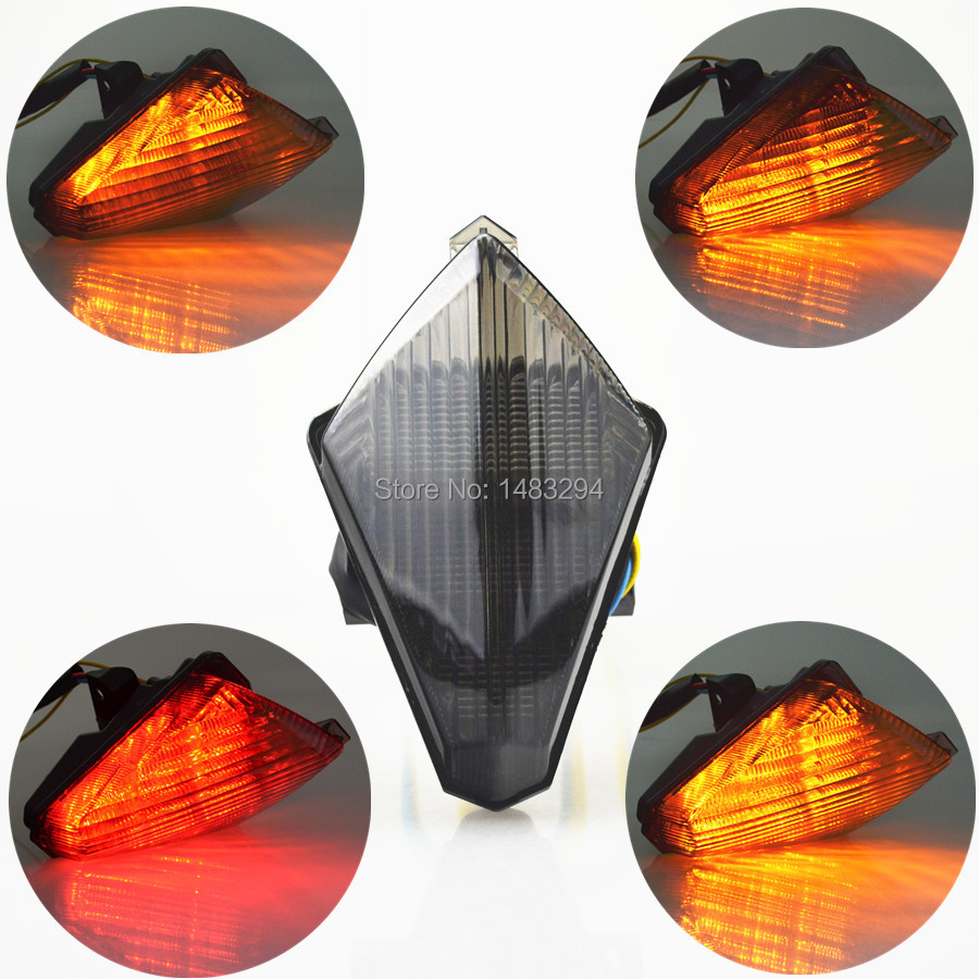 YAMAHA R1 INTEGRATED LED TAIL LIGHT BLACK//SMOKE 07,08,2007,2008