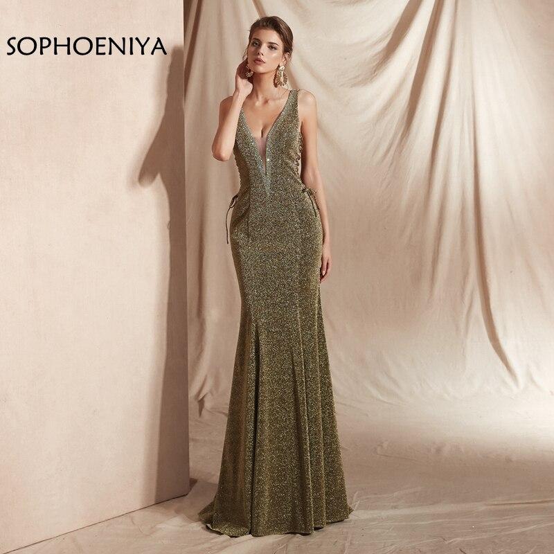 New Arrival V Neck Lace   evening     dress   2019 Robe de soiree abendkleider In stock Mermaid   evening     dresses   long formal   dress