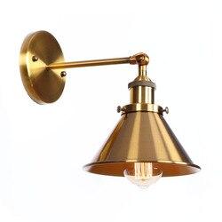 Loft Decor Nordic miedź żelaza Led kinkiet Vintage lampa do lustra łazienkowego Nordic schody światła łazienka kinkiet lampka nad lustro