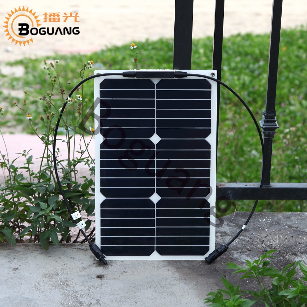 2pcs 18w 18V flexible solar panel mono module efficiency cell with MC4 connector for 12v battery tent car RV yard power charger