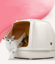 Portable Cat Litter Box Easy Clean Supply Teddy Pet Toilet Semi-closed Cats Bedpans  Supplies 30SP024