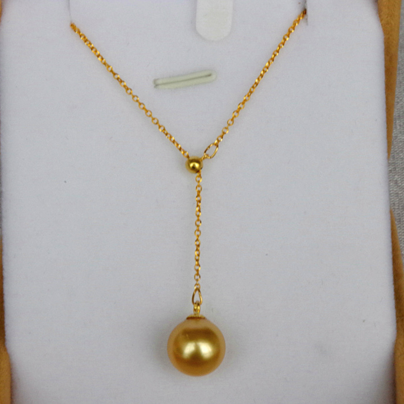 Origial Golden South sea pearl Multifunctional Pendant Necklace 18k gold Fine jewelry for women ladies Mother