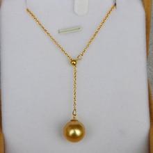 Оригинальное золотое ожерелье с искусственным жемчугом южной моря, ювелирные изделия из 18 каратного золота для женщин, матерей и девушек, лучший подарок
