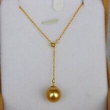 Origial de Ouro Do mar Sul pérola Colar Pingente 18 Multifuncional k ouro jóias Finas para mulheres Mãe senhoras meninas melhor presente
