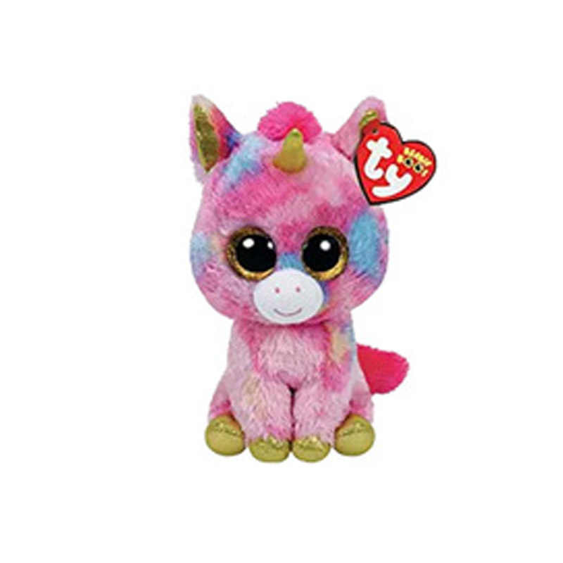 43a1822b4d2 ... 15CM Hot Sale Ty Beanie Boos Big Eyes Unicorn Ghost Plush Toy Doll  Stuffed Animal Cute ...