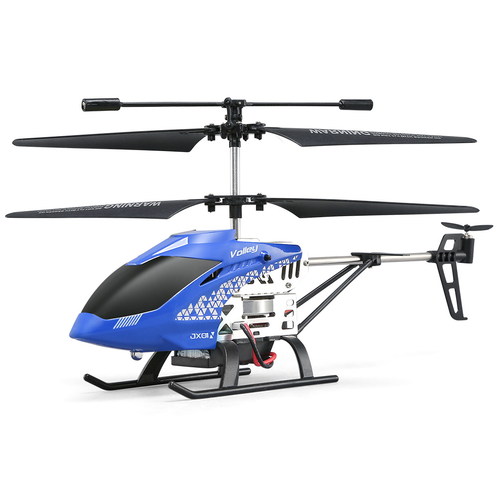JJRC JX01 RC Helicopter 2.4G 3.5CH 6-Axis Gyro With Altitude Hold Alloy Remote Control Helicopters Kids Gift Blue Red Barometer