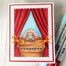 Eastshape Cute Cartoon Animals Series Cutting Dies For Card Making Bear Pig Scrapbook DIY Craft Album Decor