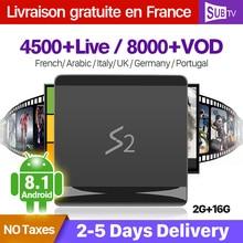 SUBTV Arabic France IPTV Italy Full HD S2 Android 8.1 2+16G RK3229 French Turkey Portugal Subscription IPTV 1 Year SUBTV Box