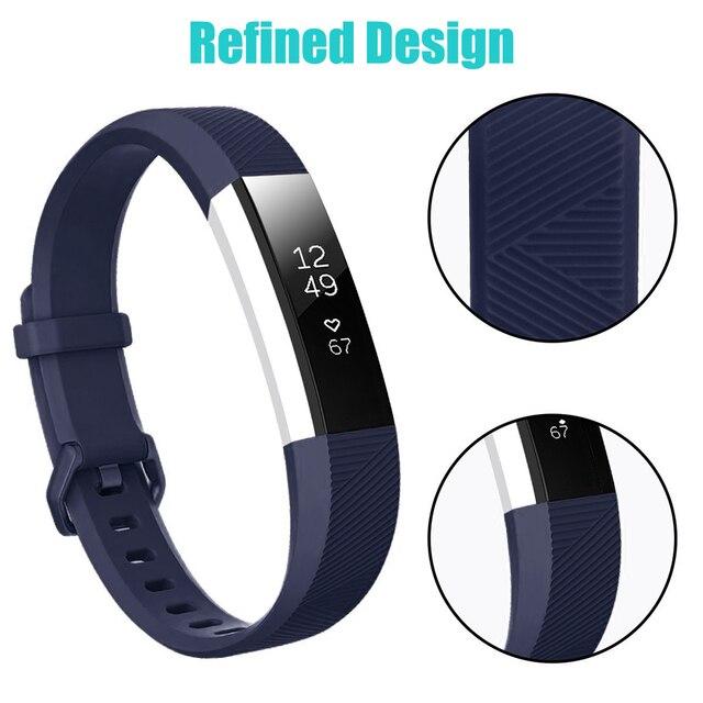 Baaletc pour Fitbit Alta HR/Alta bracelet de montre en Silicone de remplacement bracelet en Silicone fermoir bracelet intelligent montre pour Fitbit