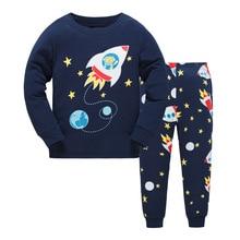 DISCOUNTS New 2019 Brand Cartoon Kid Pyjamas Autumn& Winter Boys Dinosaur Pajamas Set Children christmas Kids Cloth