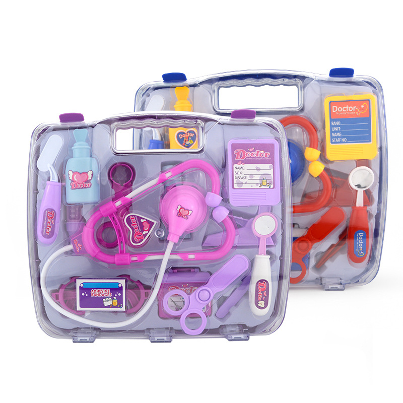 15pcs/set Doctor Toy for Children Pretend Play Doctor Nurse Toy Portable Suitcase Medical Kit Kids Educational Role Play toys new boy girl nurse doctor pretend play toy medical kit play set junior kids baby toys for children birthday gift