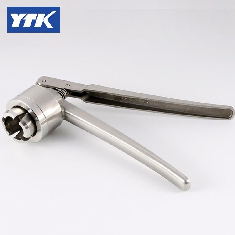 YTK 100pcs  5ml glass clear vial + 100pcs 20mm vial stopper + 100pcs 20mm flip off caps + 1pcs 20mm vial crimper