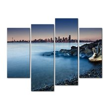 4 Pcs/Set Artist Canvas painting City ocean series forms Prints Wall Pictures for Living Room Picture/XJ-12Y-43-