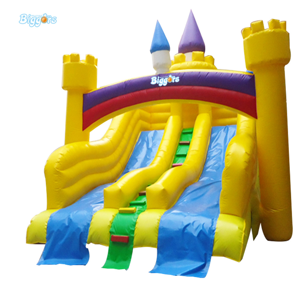 Castle Style Big Water Inflatable Slides for Amusement Park 2017 summer funny games 5m long inflatable slides for children in pool cheap inflatable water slides for sale