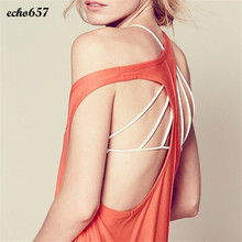 New Fashion Hot Sale Echo657 1PC Womens Sexy Padded Bra Crop Tops Vest Cross Strap Bustier Beach Tank Tops Nov 12 PY