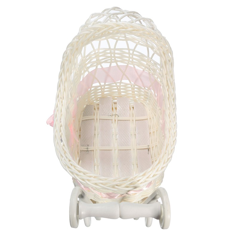 Baby Carriages & Buggies Sensible Wicker Stroller Toy/ Home Decore