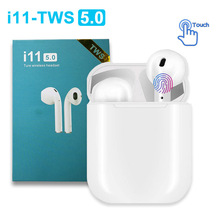 i11 TWS Mini 5.0 Bluetooth Earphone Wireless Earphones In ear Headphone Handsfree Earbuds Touch Bass Headset PK i12 i10 i9s