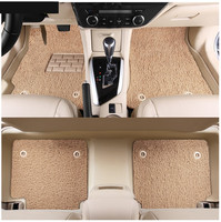 Car Floor Mats For Hyundai Elantra 2017.2018 Foot Carpets Step Mat High Quality New Water Proof leather Wire coil 2 Layer