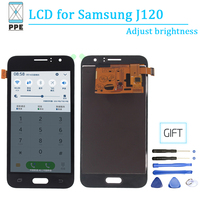 Adjust Brightness Lcd Screen For Samsung Galaxy J120 J1 2016 SM J120F J120H/DS J120M Lcd Touch Display Digitizer Panel Assembly