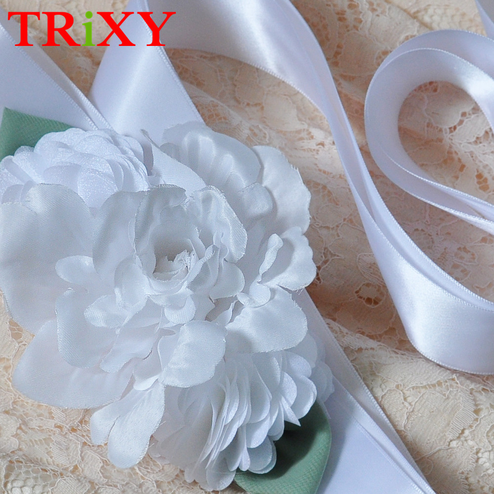 Blume Band Brautgürtel Braut Schärpen Trixy A227 Charming Blume Abendgesellschaft Prom Kleider Zubehör Hochzeit Gürtel Weddings & Events Hochzeit Zubehör