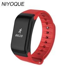 Niyoque F1 Bluetooth Спорт умный Браслет артериального давления монитор сердечного ритма фитнес-трекер Smart Браслет для iOS и Android