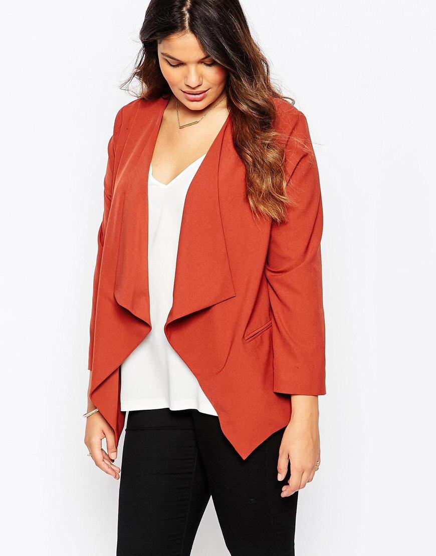 Fashion Waterfall Blazer Plus Size Women Clothing 2016 Autumn Jacket Office  Suit Veste Femme Manche Longue 4xl 5xl 6xl 7xl bed282018218