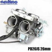 PD26JS 26mm Double Twin Cylinder Carburetor for Keihi CBT125 CBT250 CA250 CB250 Cl125-3 Engine Motorcycle ATVs Quad Go Kart