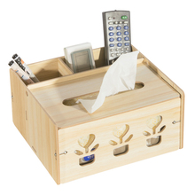 Wood Desk Set With Tissue Box Container DIY Napkin Case Multifunctional Storage Box Desk Sets Wood Home Office Table Decor Gift studio designs home office wood desk carousel black
