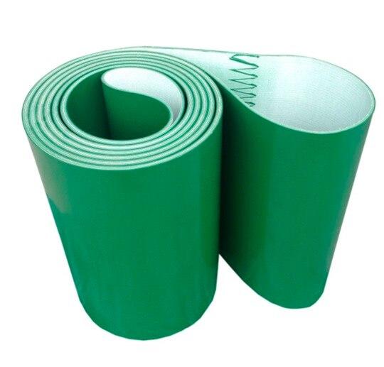 Périmètre: 3200mm x 200mm x 3mm Vert Ligne De Transmission Industrielle Ceinture Convoyeur PVC Ceinture (Peut Personnalisé Taille)