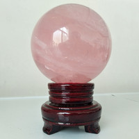90mm diameter 100% natural rose quartz crystal ball household ornament ball healing crystal ball wholesale