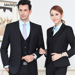 Professional Wear Female 2019 Spring and Autumn Men and Women with The Same Suit Suit Female Dress Business Casual Overalls Suit
