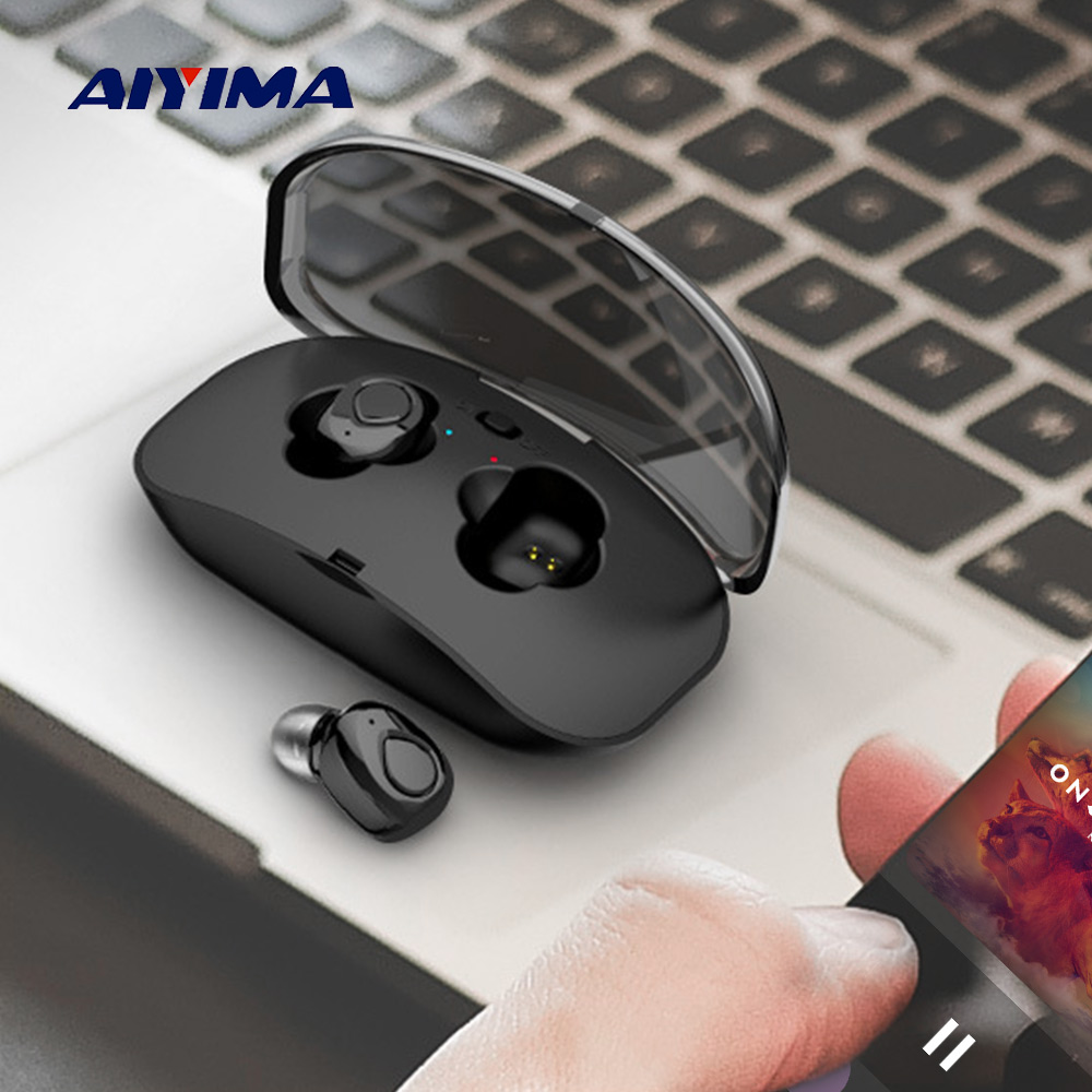 AIYIMA Mini Earbuds TWS Wireless Phone Bluetooth Earphones Sports Headphones Stereo HiFi Handsfree In-ear Headset For iPhone sayoon dc 6v contactor czwt150a contactor with switching phase small volume large load capacity long service life