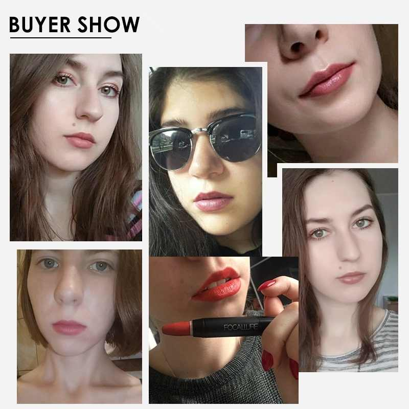 FOCALLURE mat rouge à lèvres 19 couleurs imperméable longue durée facile à porter professionnel rouge à lèvres nu rouge à lèvres