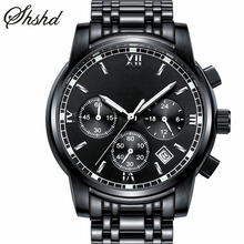 Luxury Gold Watches For Men Analog Dual Display Quartz Wristwatches Silver Complete Calendar Clock Metal Barcelet Reloj Hombre