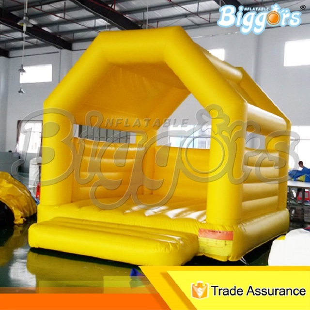 Inflatable Biggor Structure Gonflatbale Castles For Kid Yellow Fuuny Mini Jumper Bouncy House