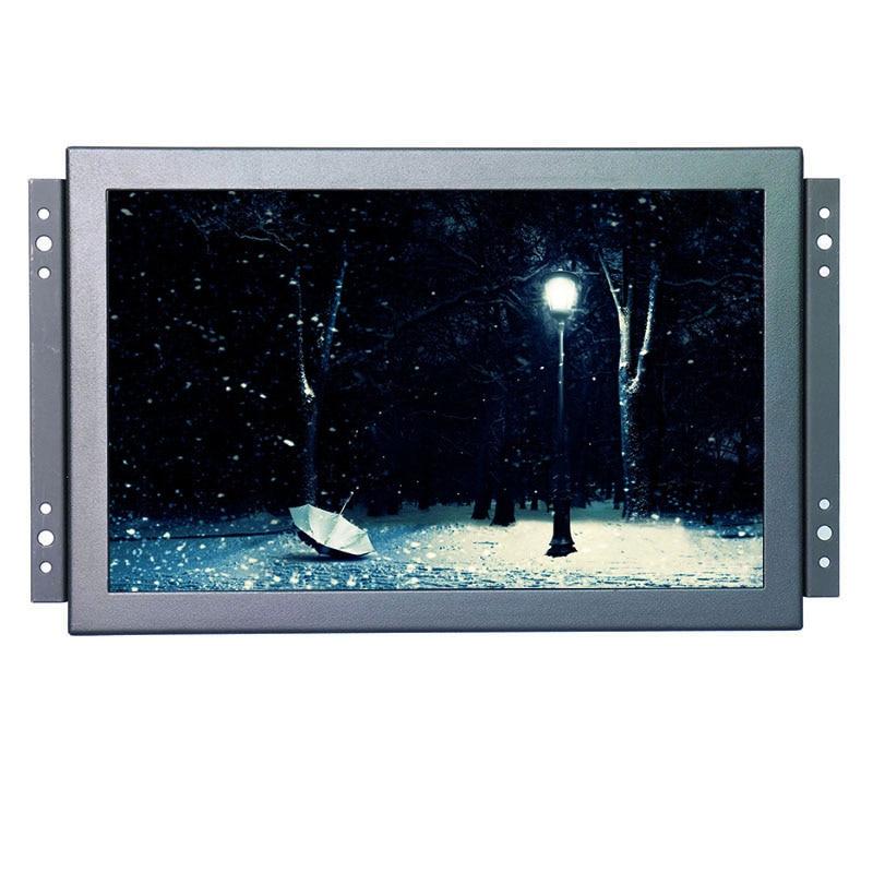 1920*1200 haute résolution 10.1 pouce 10 points tactile capacitif tactile moniteur cadre ouvert moniteur lcd montage avec BNC/VGA/HDMI