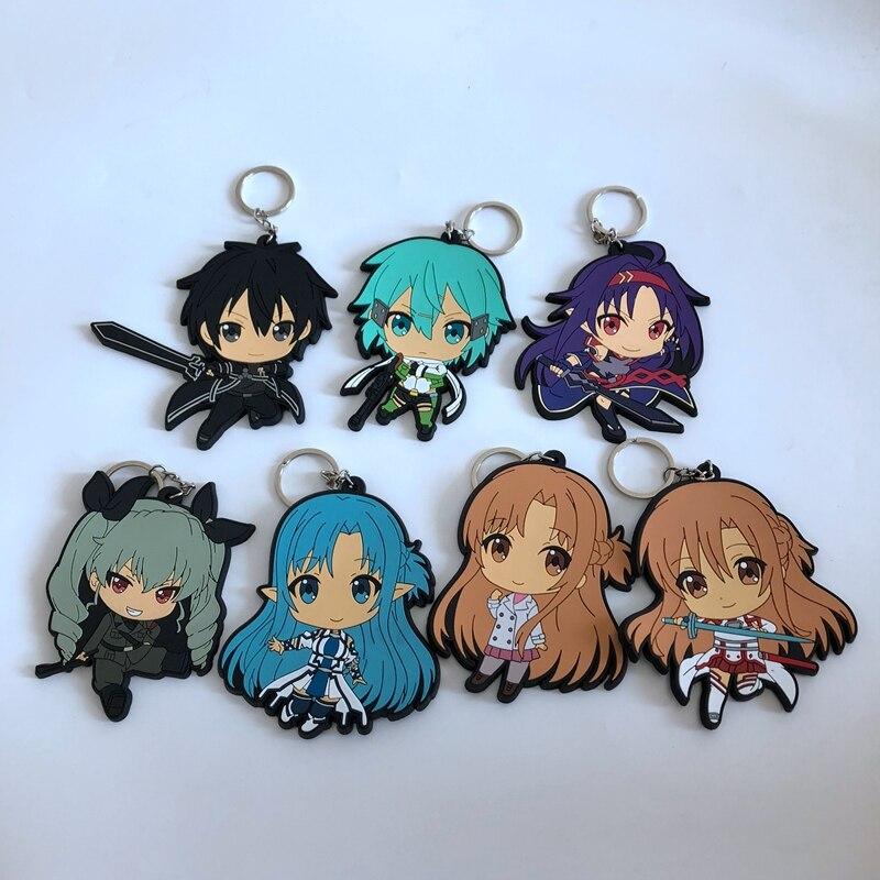 New Cartoon Figure Single Side Rubber Parts & Accessories pendant ornament decoration unisex bag chain pendants key chain