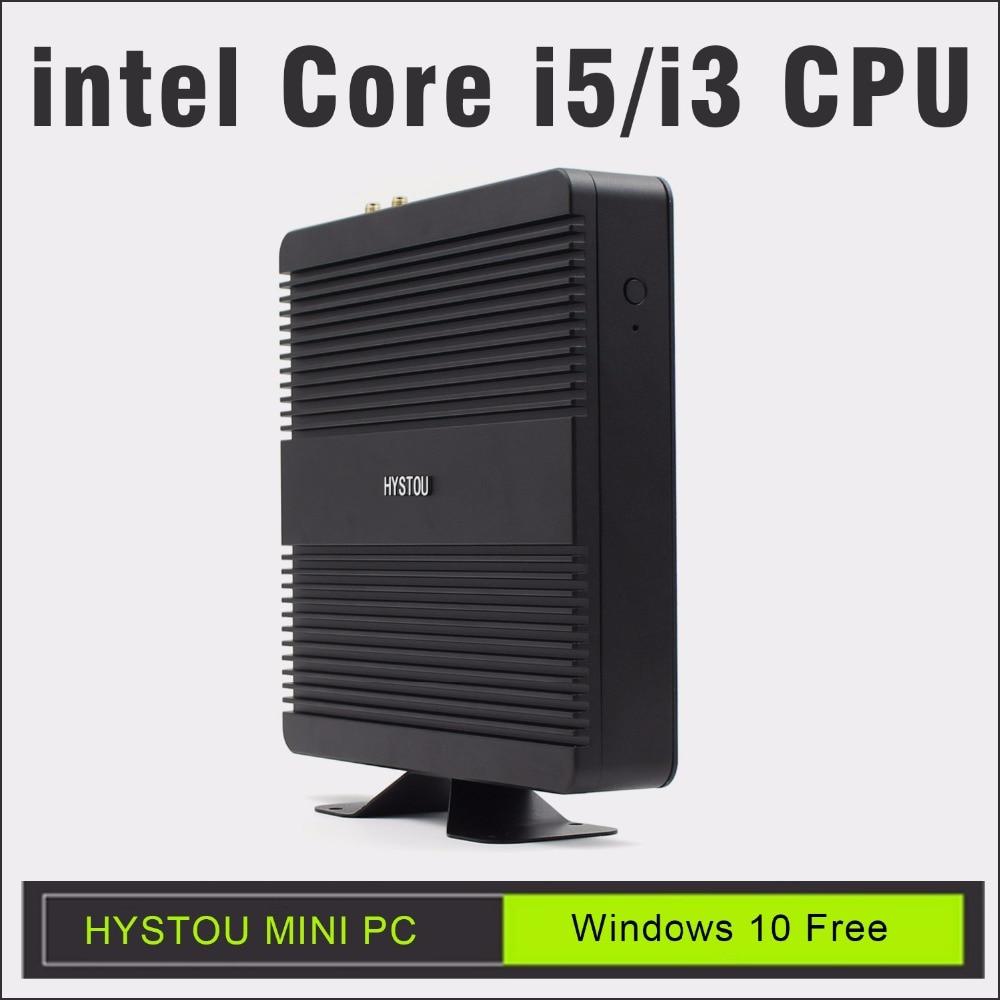 hystou intel core i5 mini pc windows10 core i5 7200u 6360u support ddr4 ram gigabit lan minicomputer linux ubuntu minipc i3 htpc цены онлайн