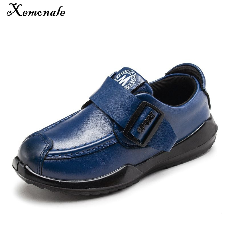 Xemonale Childrens Genuine Leather Shoes Boys Spring Autumn Casual Sports British Style Kids Excellent Quality Sneakers Shoes