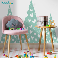Huge Heart Mountain Big Baby Room Decal Adventure Theme Fairy Tale Decor Nursery Kid Room Removable Vinyl Wall Sticker JW376