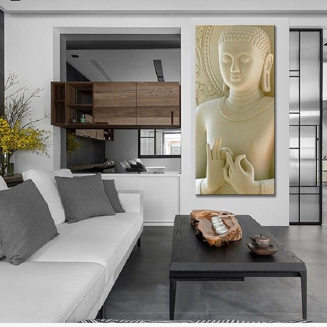 Moderne 1 Pcs Bouddha Peinture Décoration Blanc Statues De Bouddha