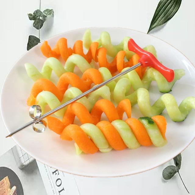 Spiral Slicer Manual Roller Cutter Kitchen Tool Salad Spiral Maker Vegetable