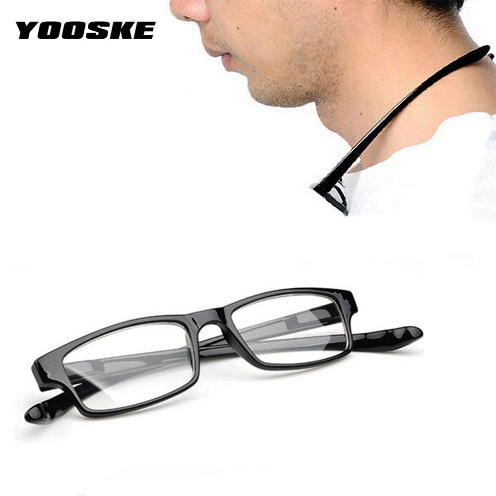 19defe7e64 YOOSKE moda Halter ultraligero 1,0, 2,0, 3,0, 3,5 gafas de lectura de 4,0  de las mujeres de los hombres Anti-fatiga HD lente de la resina de lectura  gafas ...